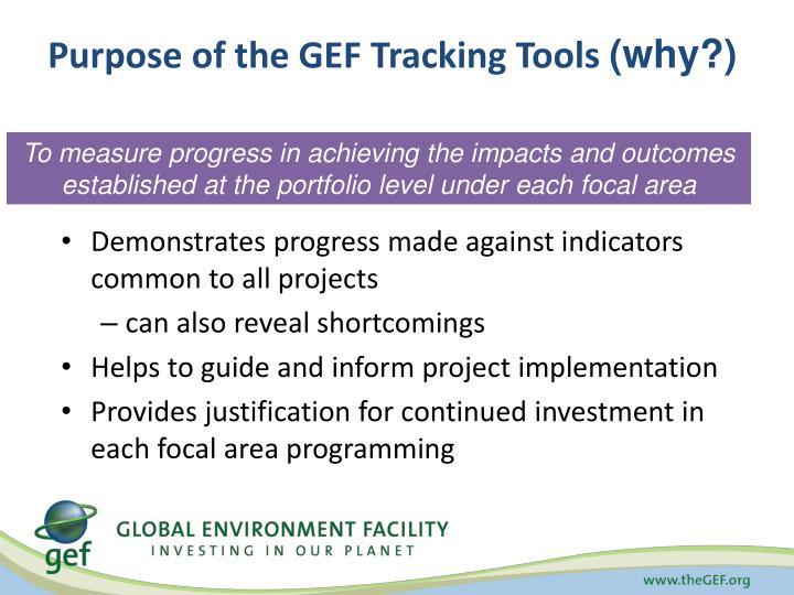 Purpose of the GEF