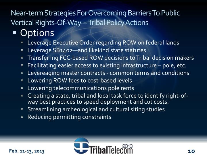 Near-term Strategies For Overcoming Barriers To Public Vertical