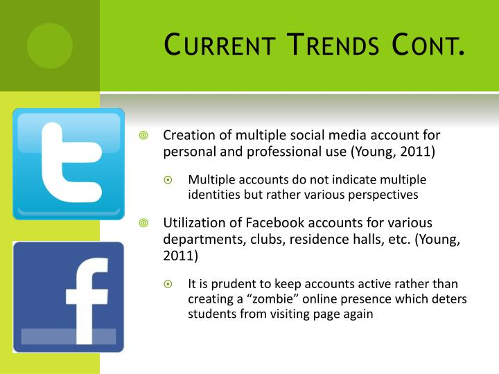 Current Trends Cont.
