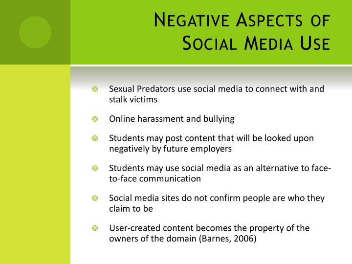 Negative Aspects of Social Media Use
