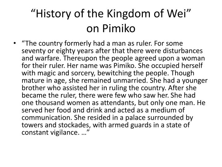 """History of the Kingdom of Wei"""