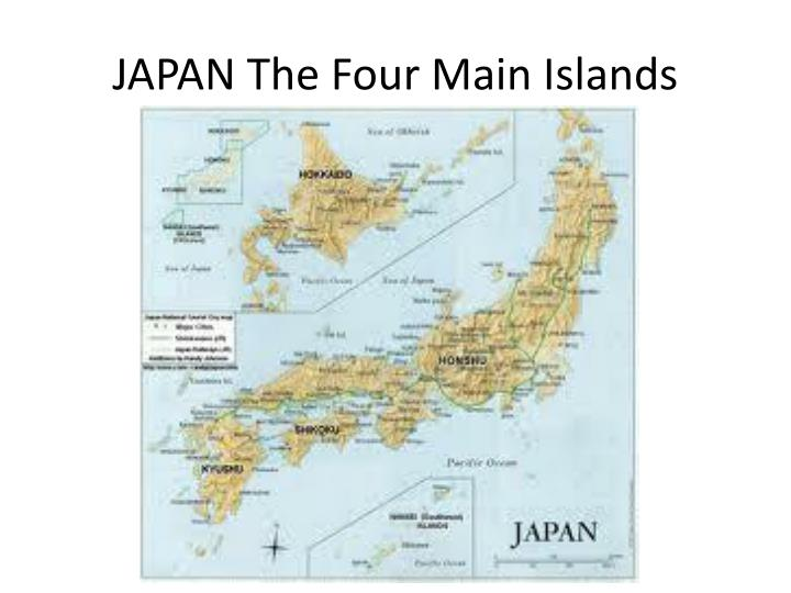 Japan the four main islands
