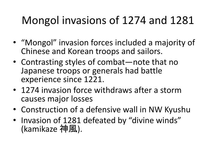 Mongol invasions of 1274 and 1281