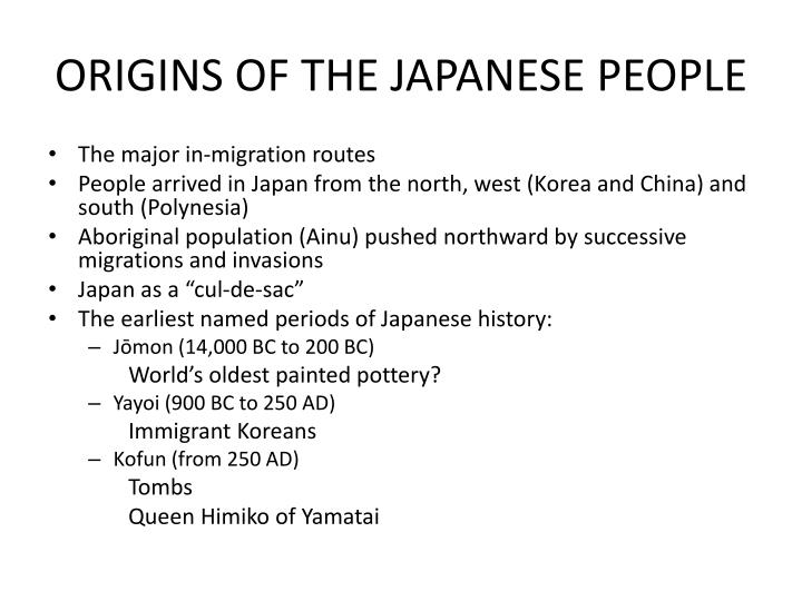 ORIGINS OF THE JAPANESE PEOPLE