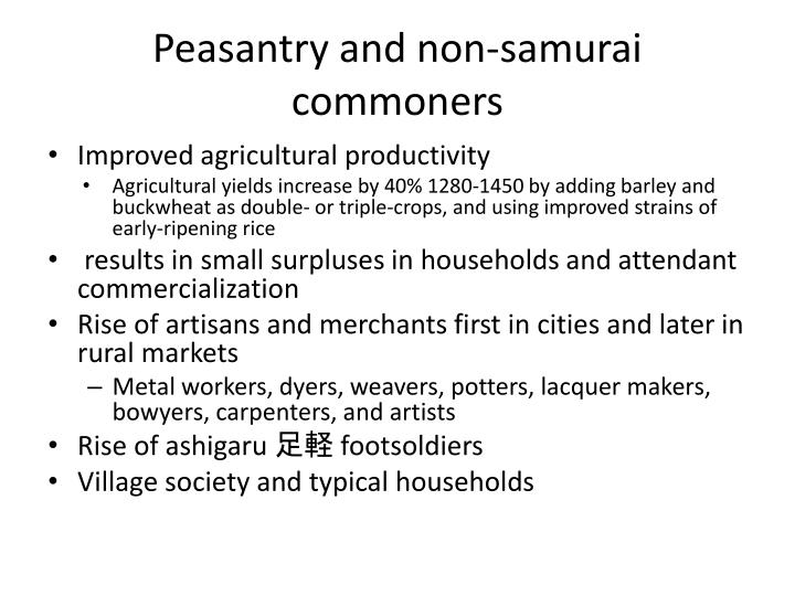 Peasantry and non-samurai commoners