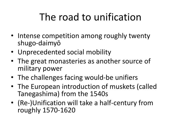 The road to unification