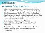 community programs organizations