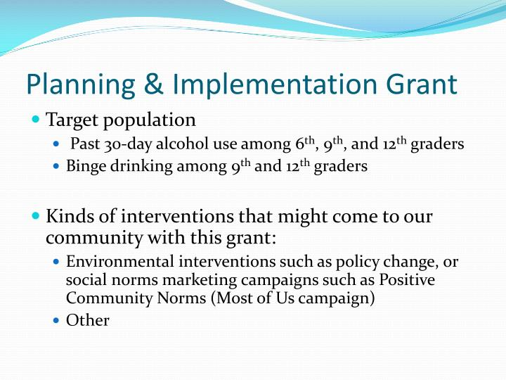Planning & Implementation Grant
