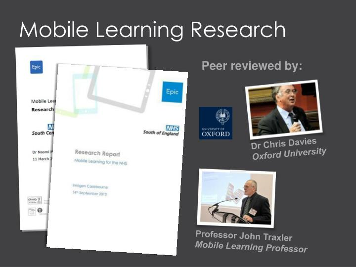 Mobile Learning Research
