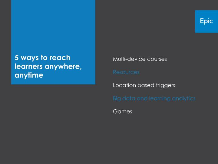 5 ways to reach learners anywhere, anytime