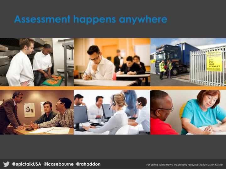 Assessment happens anywhere