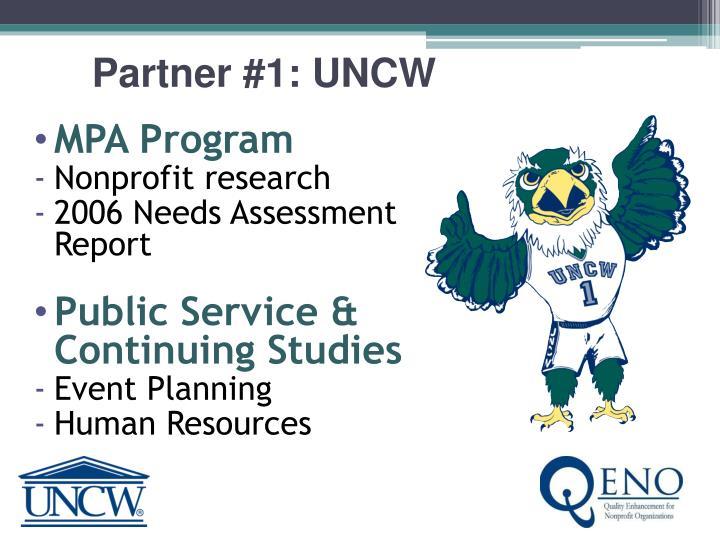 Partner #1: UNCW