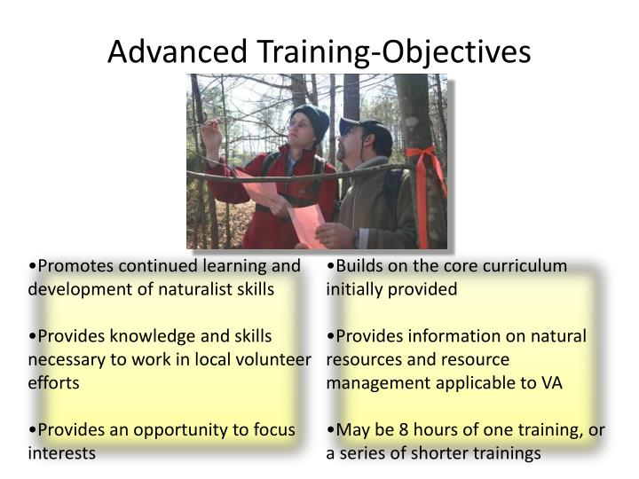 Advanced Training-Objectives