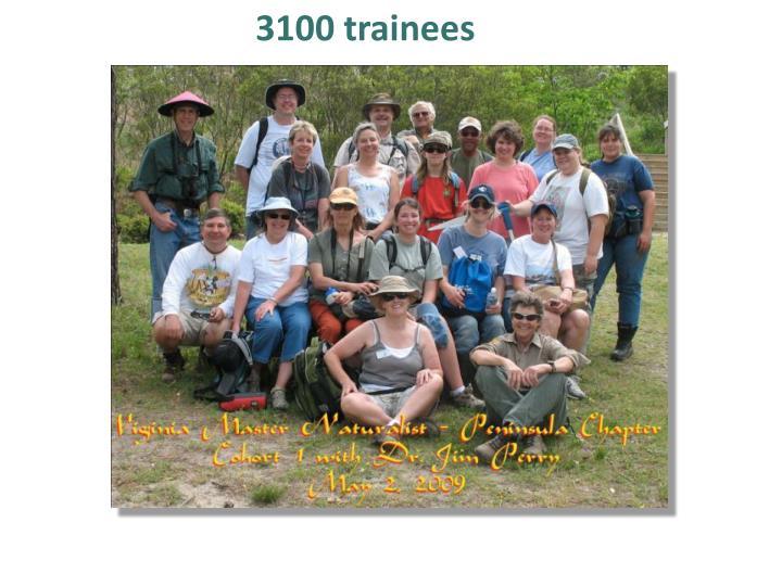 3100 trainees