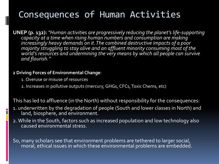Consequences of Human Activities