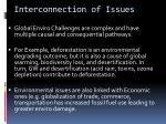 interconnection of issues