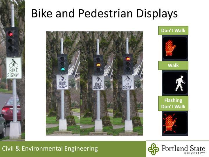 Bike and Pedestrian Displays