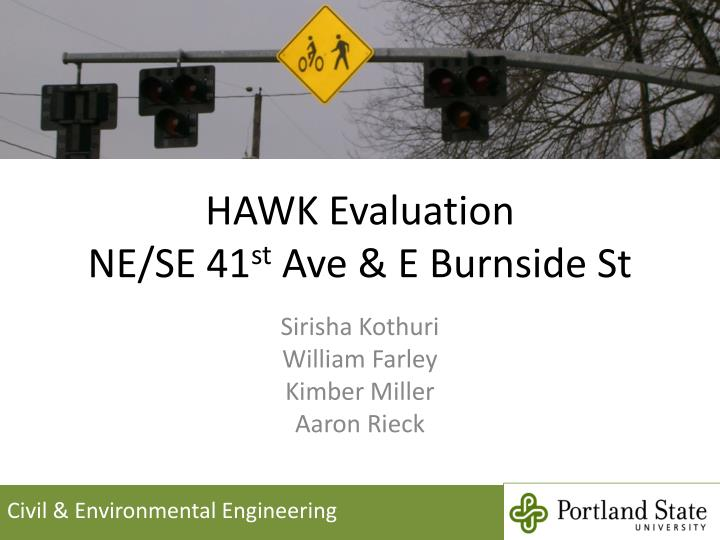 Hawk evaluation ne se 41 st ave e burnside st