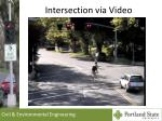 intersection via video