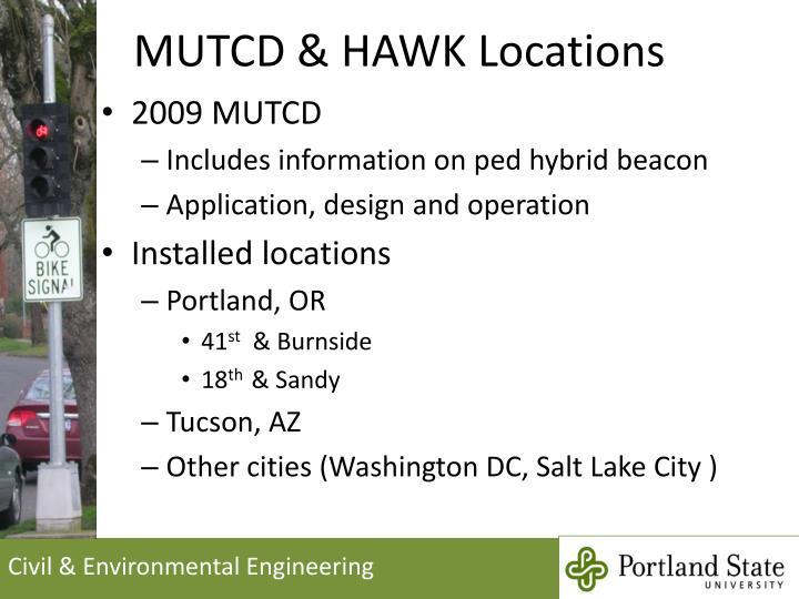 MUTCD & HAWK Locations