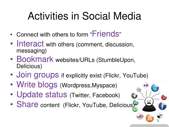 Activities in Social Media
