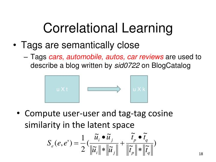 Correlational Learning