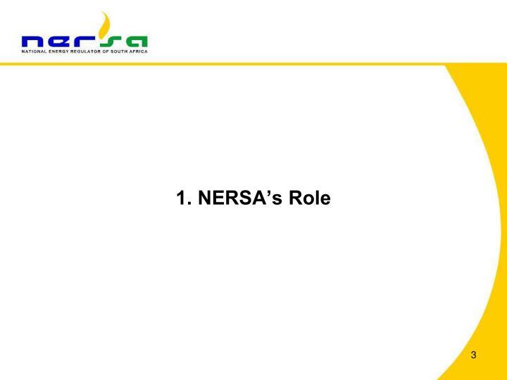 1. NERSA's Role