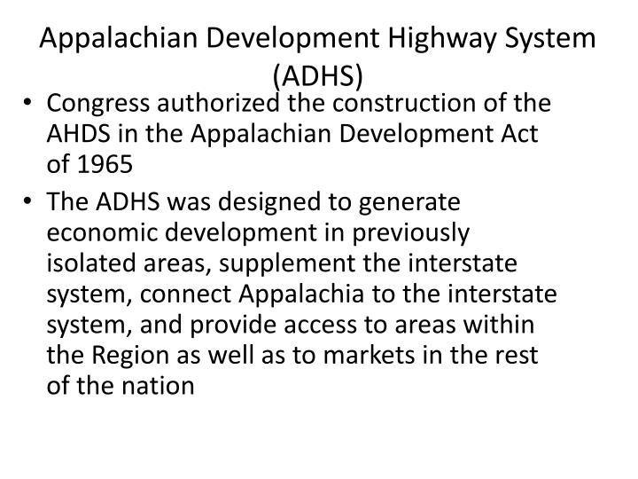 Appalachian Development Highway System (ADHS)