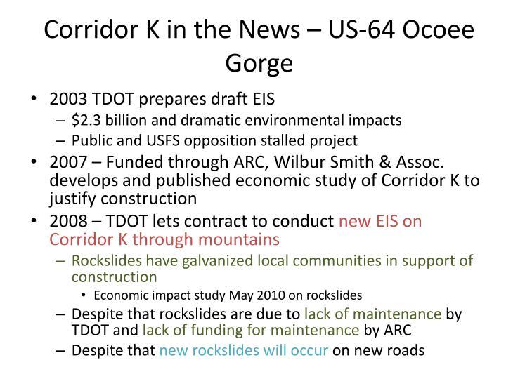 Corridor K in the News – US-64 Ocoee Gorge