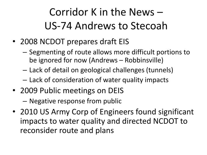 Corridor K in the News –