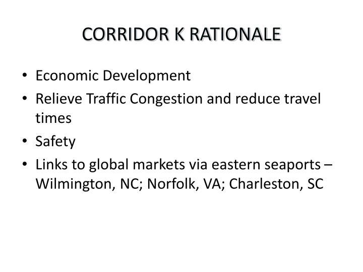 CORRIDOR K RATIONALE