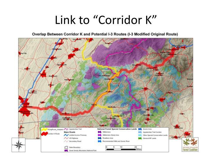 """Link to """"Corridor K"""""""