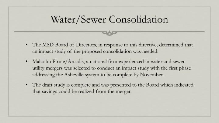 Water sewer consolidation1