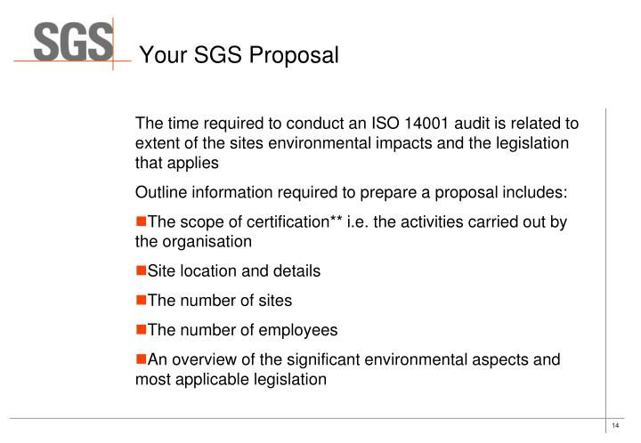 Your SGS Proposal
