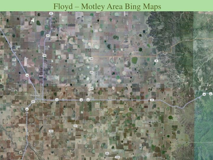 Floyd – Motley Area Bing Maps