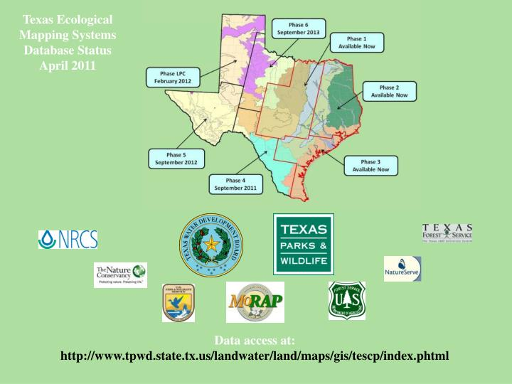 Texas Ecological Mapping Systems Database Status