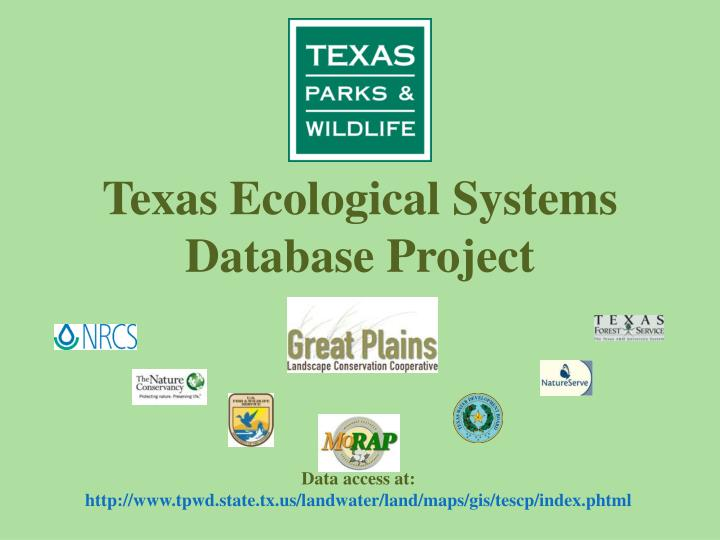 Texas ecological systems database project