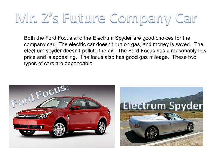 Mr. Z's Future Company Car