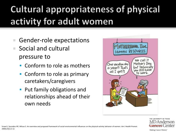 Cultural appropriateness of physical activity for adult women