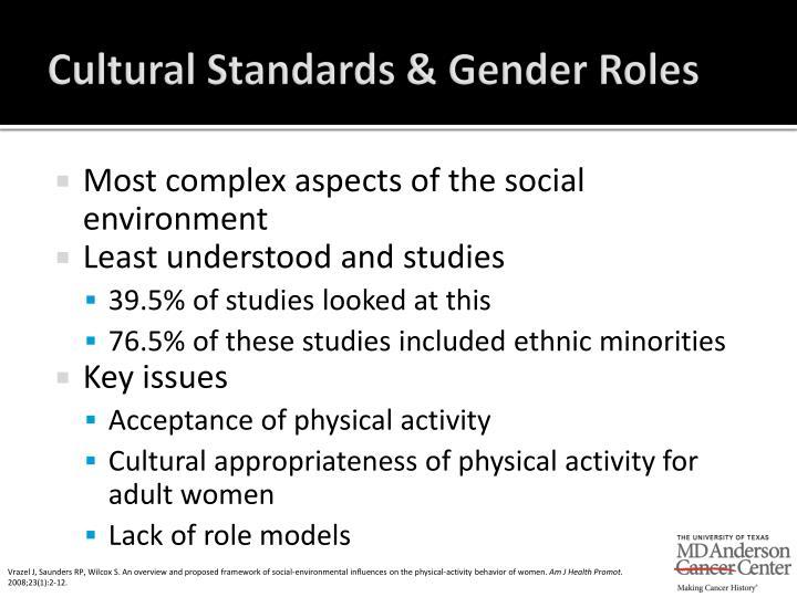 Cultural Standards & Gender Roles