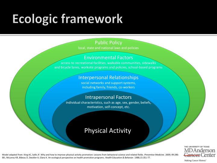 Ecologic framework