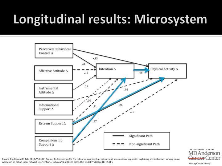 Longitudinal results: Microsystem