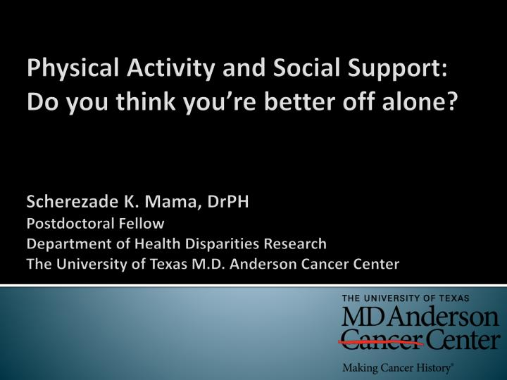 Physical Activity and Social Support: