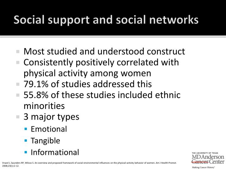 Social support and social networks