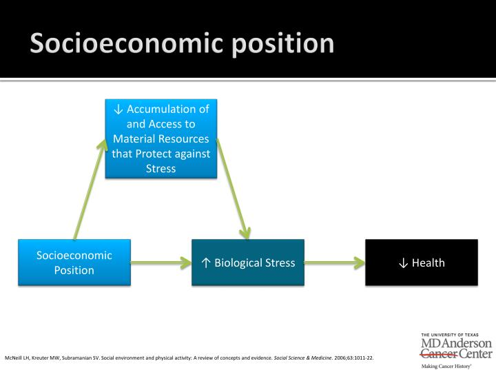 Socioeconomic position