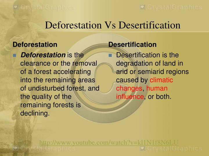 Deforestation Vs Desertification