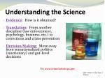 understanding the science