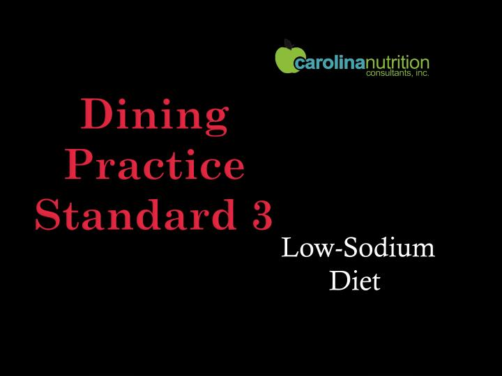 Low-Sodium Diet
