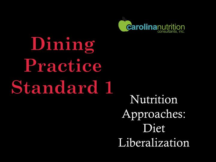 Nutrition Approaches: