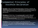 fundamental principles of stockholm declaration